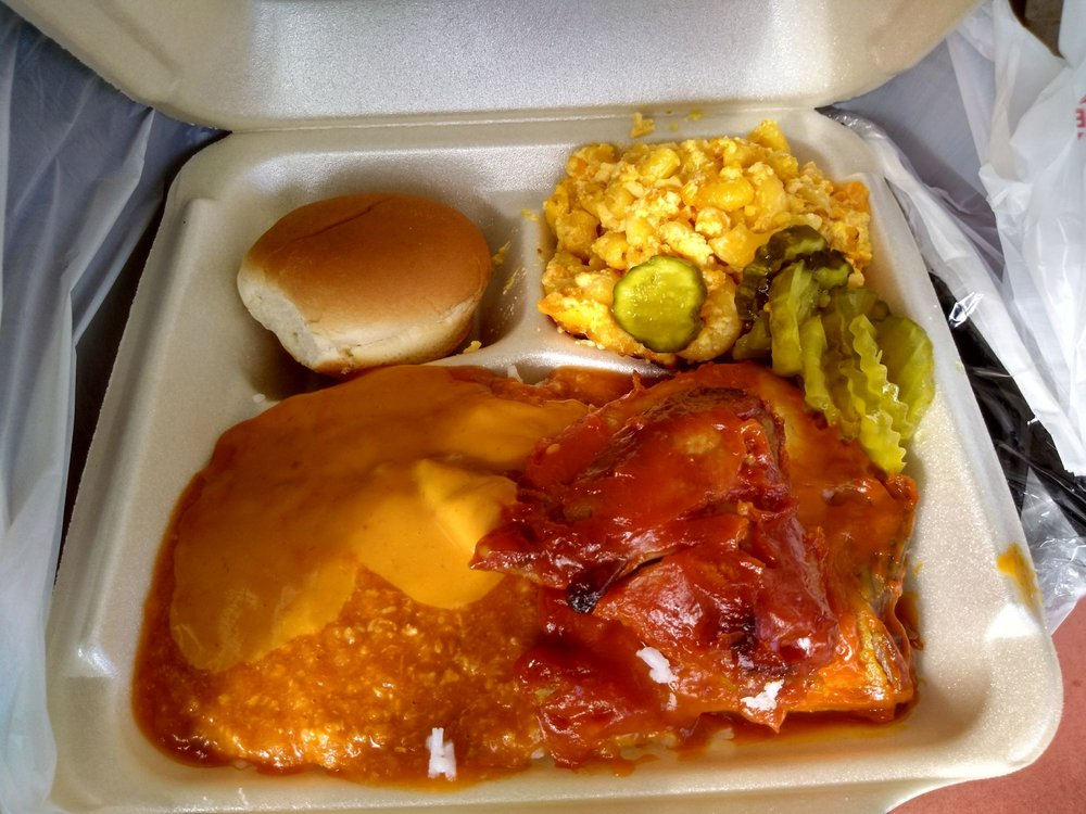 Food from Antley's Bar-BQ