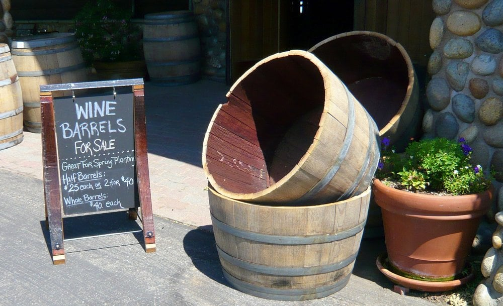Wine Barrels For Sale As Planters Excellent If You Have A Big