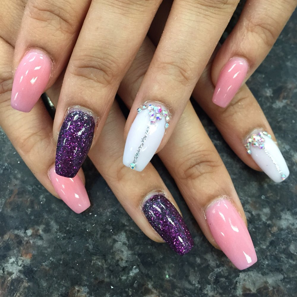 Nexgen nails , mood change color , rhinestone design - Yelp