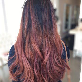 Blush Rose Brown Hair Color