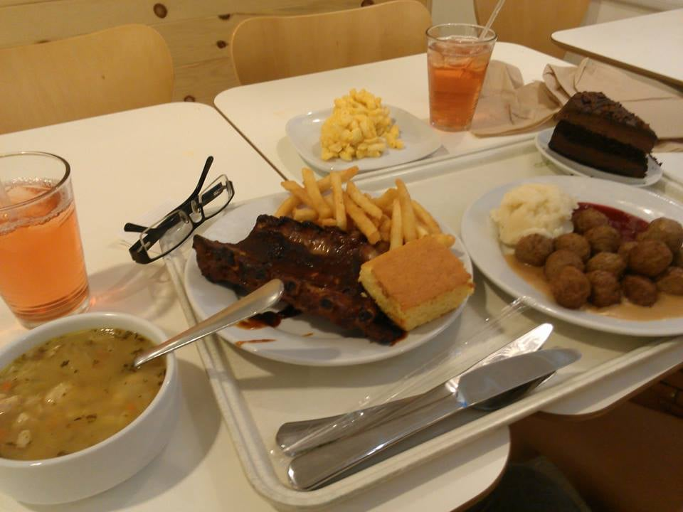 ribs cornbread french fries meatballs mashed potatoes with gravy macaroni and cheese soup. Black Bedroom Furniture Sets. Home Design Ideas