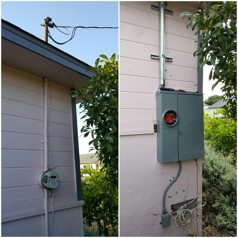 200 amp solar and generator ready main service panel upgrade before ...