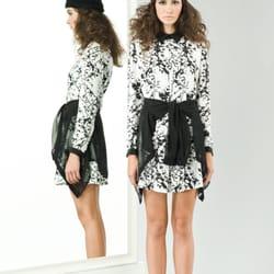F block long dress accessories