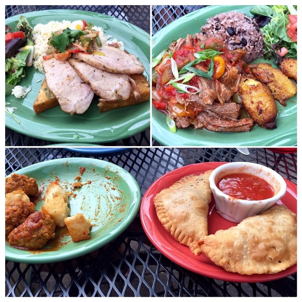 Beef/Chicken empanadas, meatballs, Ropa Vieja, and the ...