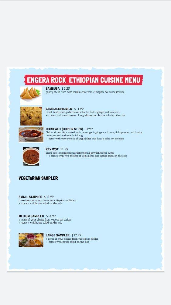 Ingera Rock Ethiopian cuisine: 825 Hungerford Dr, Rockville, MD