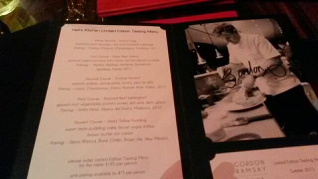 Hell\'s Kitchen Tasting Experience Menu - Yelp