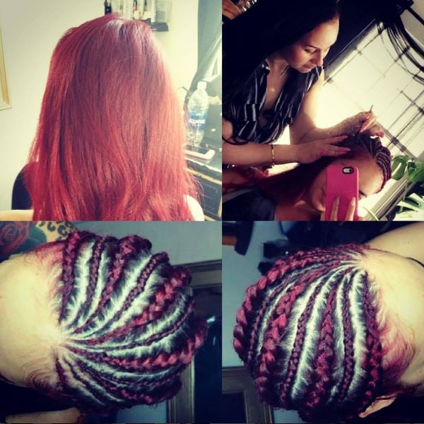Cornrows Design Ghana Style Braids Color Match Hair Extensions Yelp
