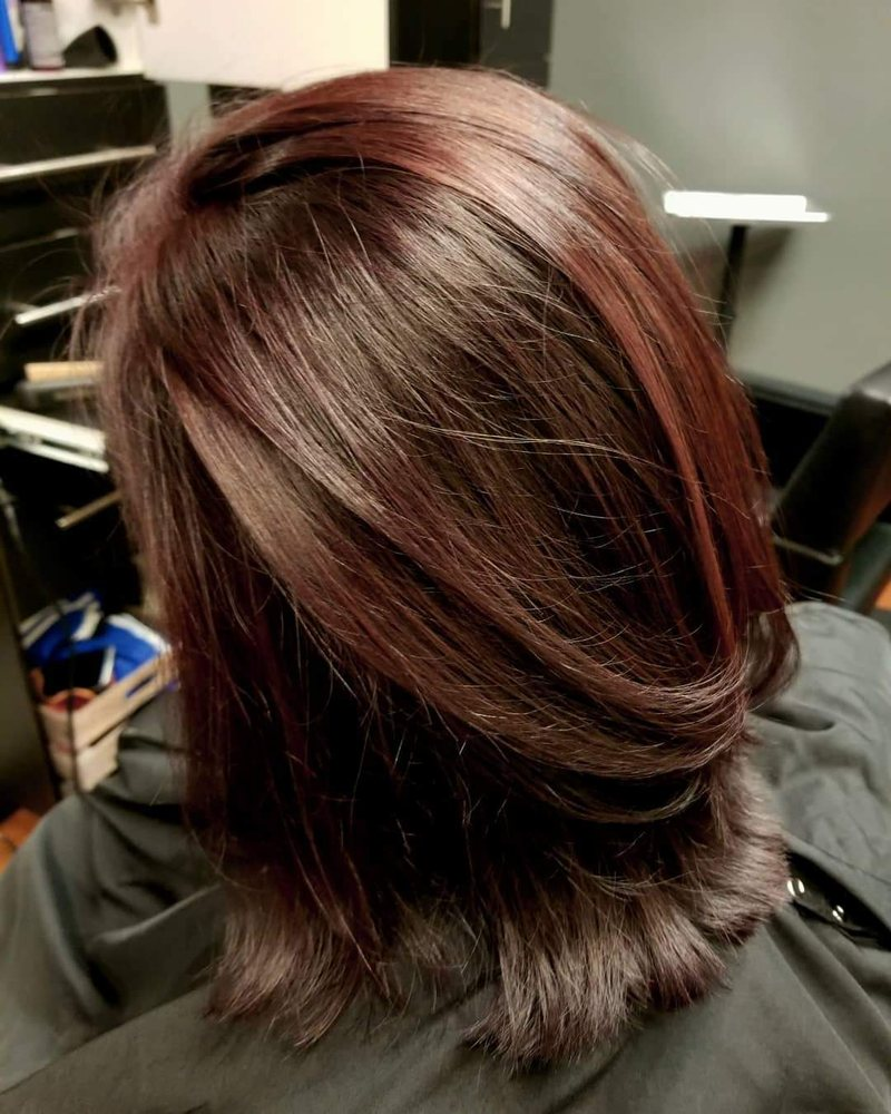 Rich Brown With Red Highlights For Winter Stephanie Did An Amazing