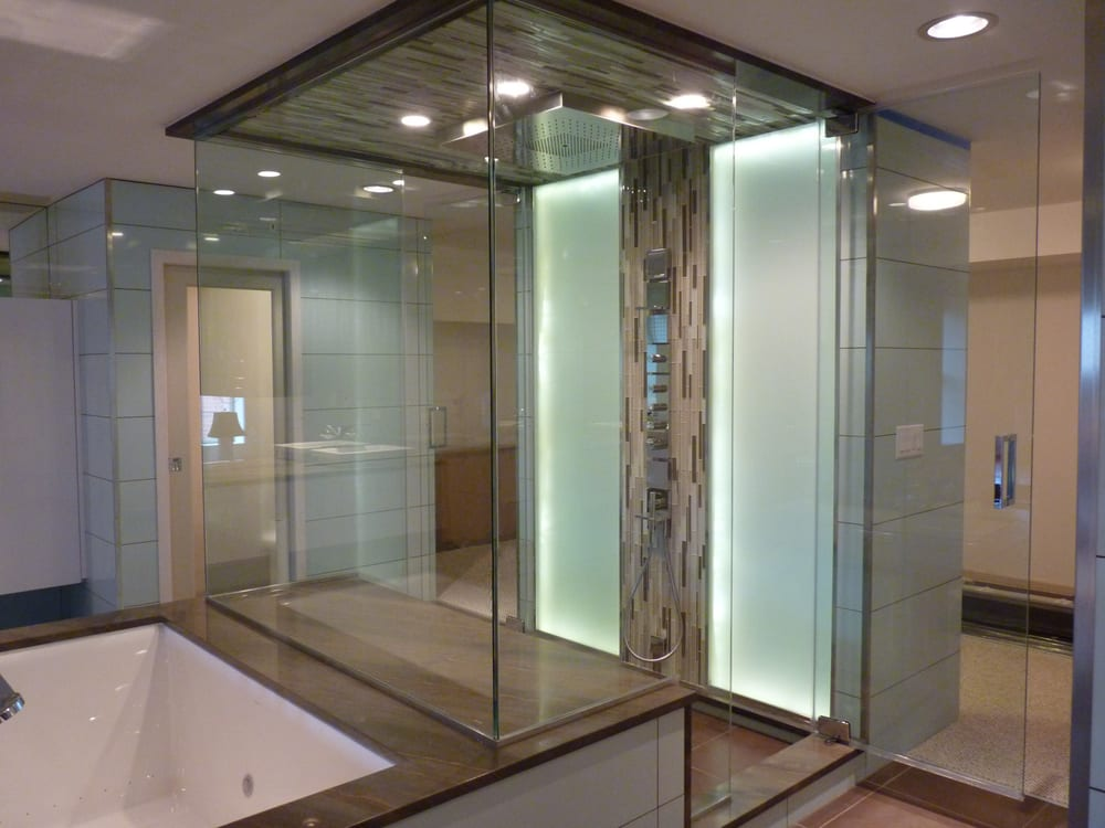 Creative mirror shower 35 photos 24 reviews glass for Glass mirrors for bathrooms
