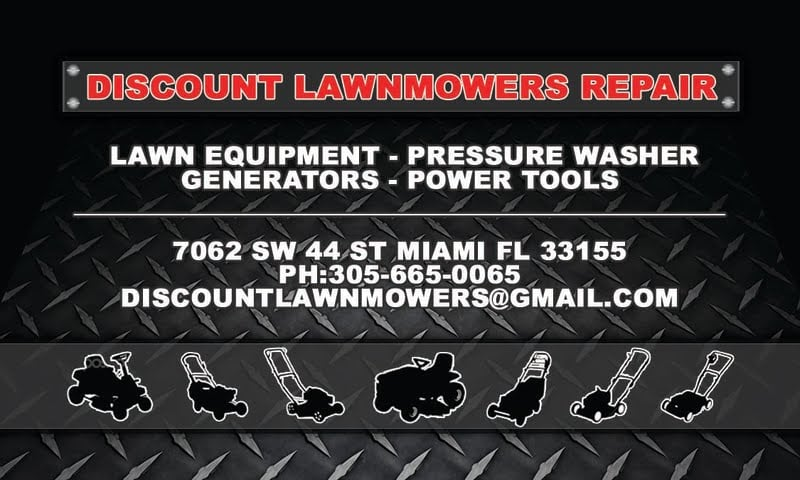 Discount Lawnmowers Repair: 7062 SW 44th St, Miami, FL