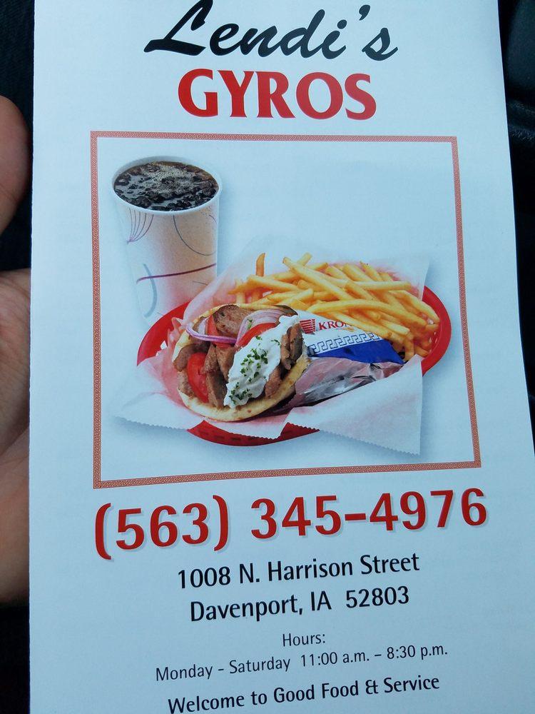 Lendi's Gyros: 1008 N Harrison St, Davenport, IA