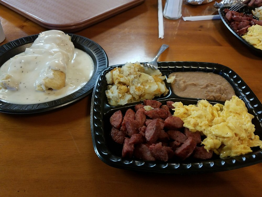 the bill miller breakfast with  side of biscuit and gravy