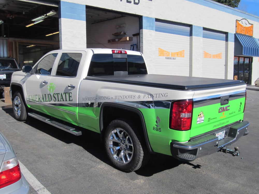 2014 Gmc Sierra Vinyl Wrapped In Pearlescent Green And