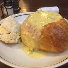 Corner Bakery Cafe Cheddar Broccoli Soup Bowl