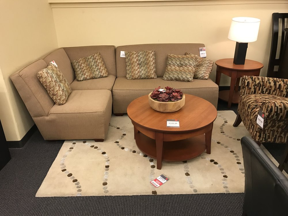 Collin 3 piece sectional limited quantities yelp for Cort furniture clearance center