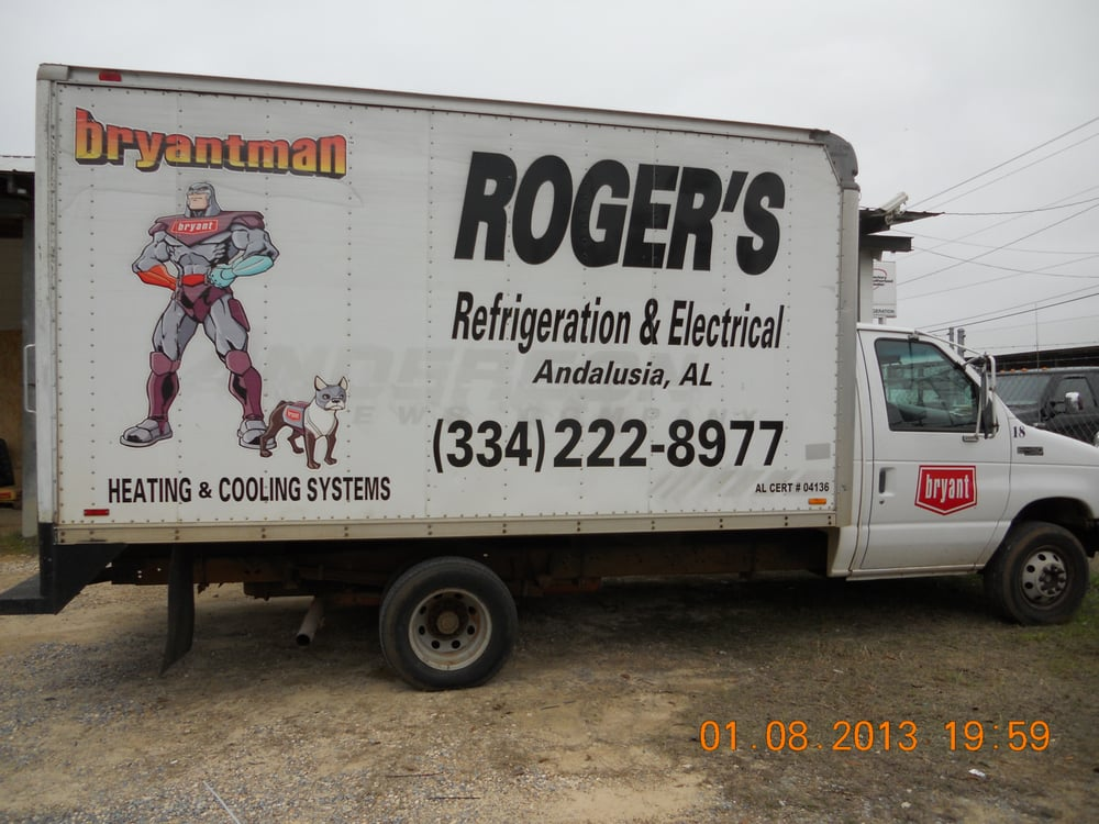 Roger's Refrigeration & Electrical: 334 E Watson St, Andalusia, AL