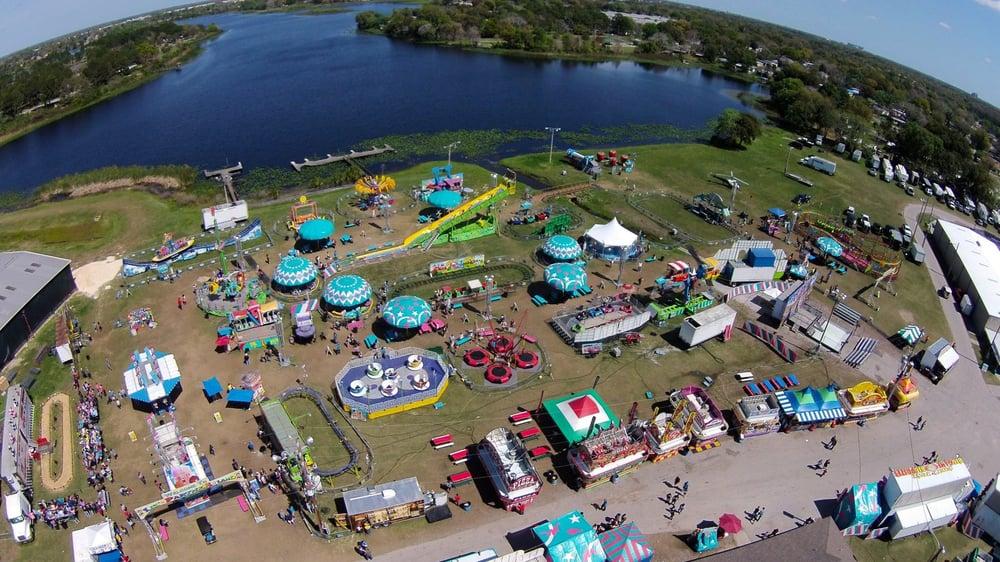 Florida State Fairgrounds Map.Central Florida Fair 2015 Kiddie Land Aerial Yelp