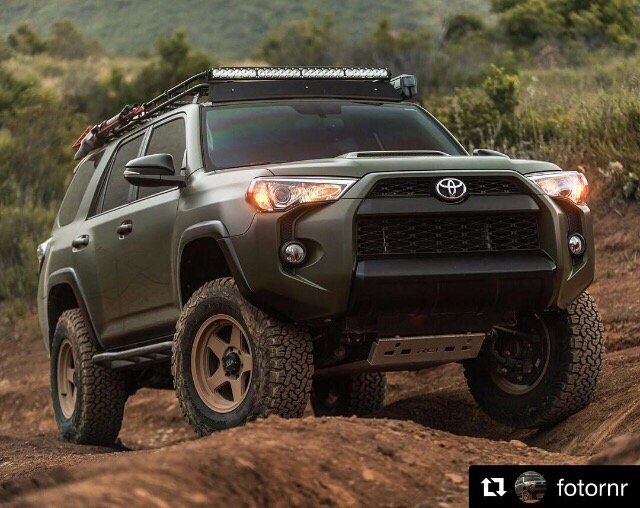 Toyota 4Runner wrapped in Oracal Matte Nato Olive Green ...