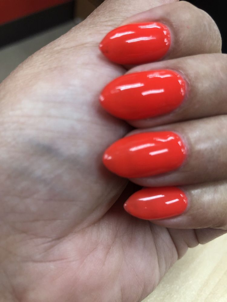 Old nail polish not removed on index finger. - Yelp
