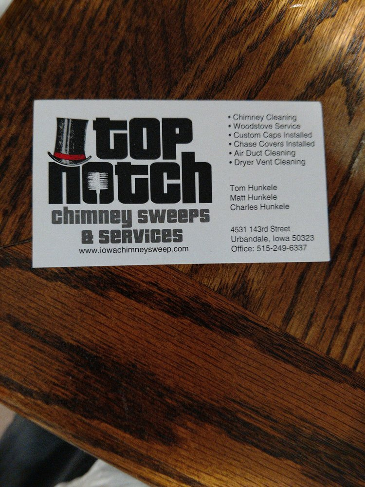 Top Notch Chimney Sweeps & Services: 4531 143rd St, Urbandale, IA