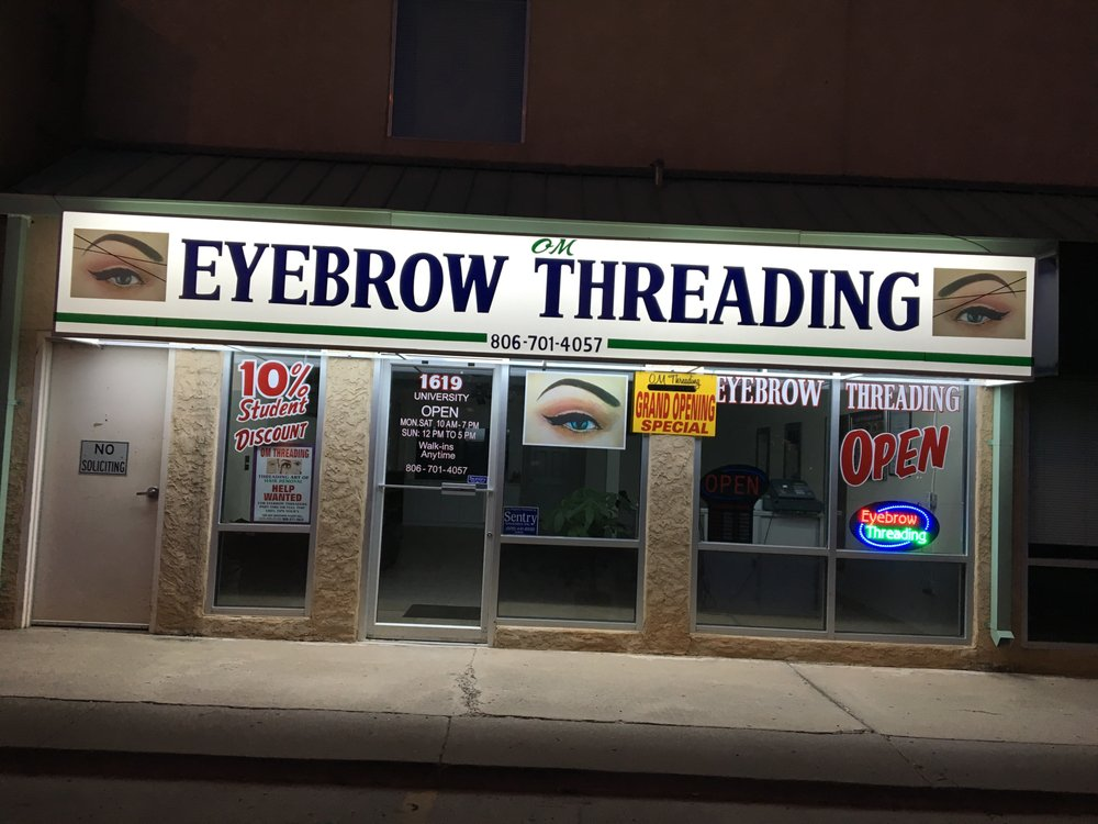 Om Eyebrow Threading Eyebrow Services 1619 University Lubbock