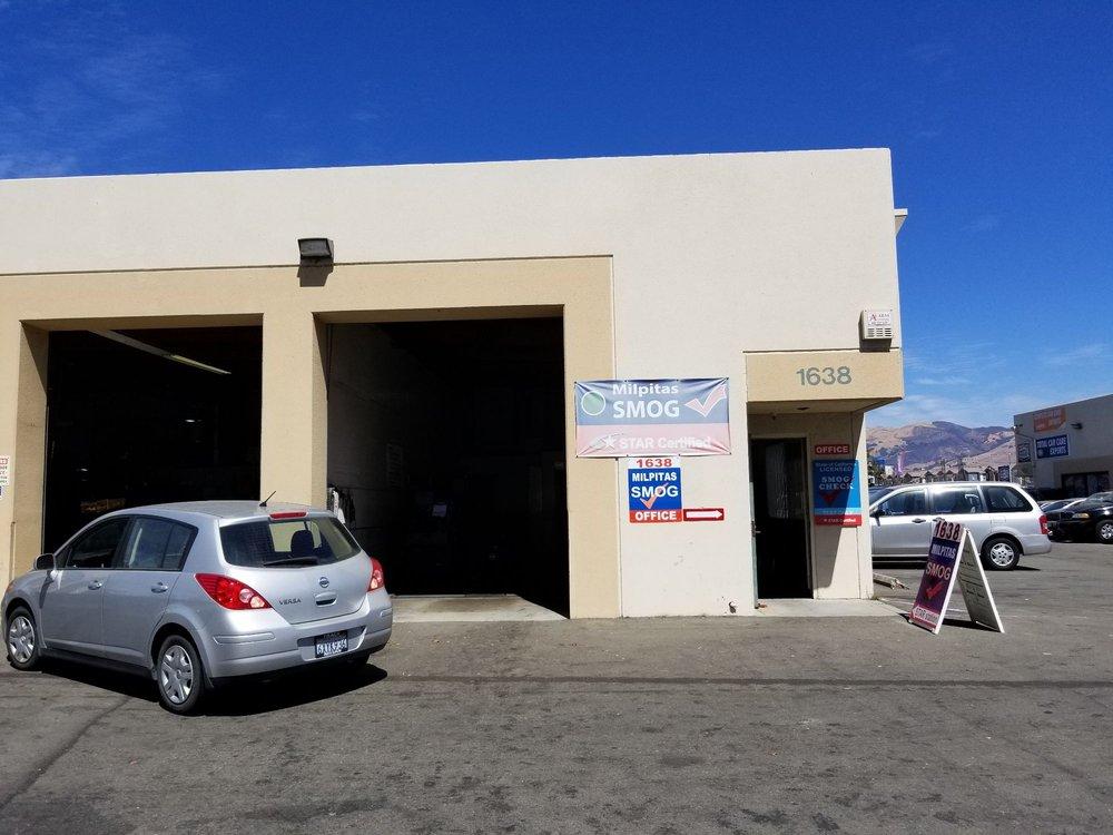 Milpitas Smog Test Only: 1638 S Main St, Milpitas, CA
