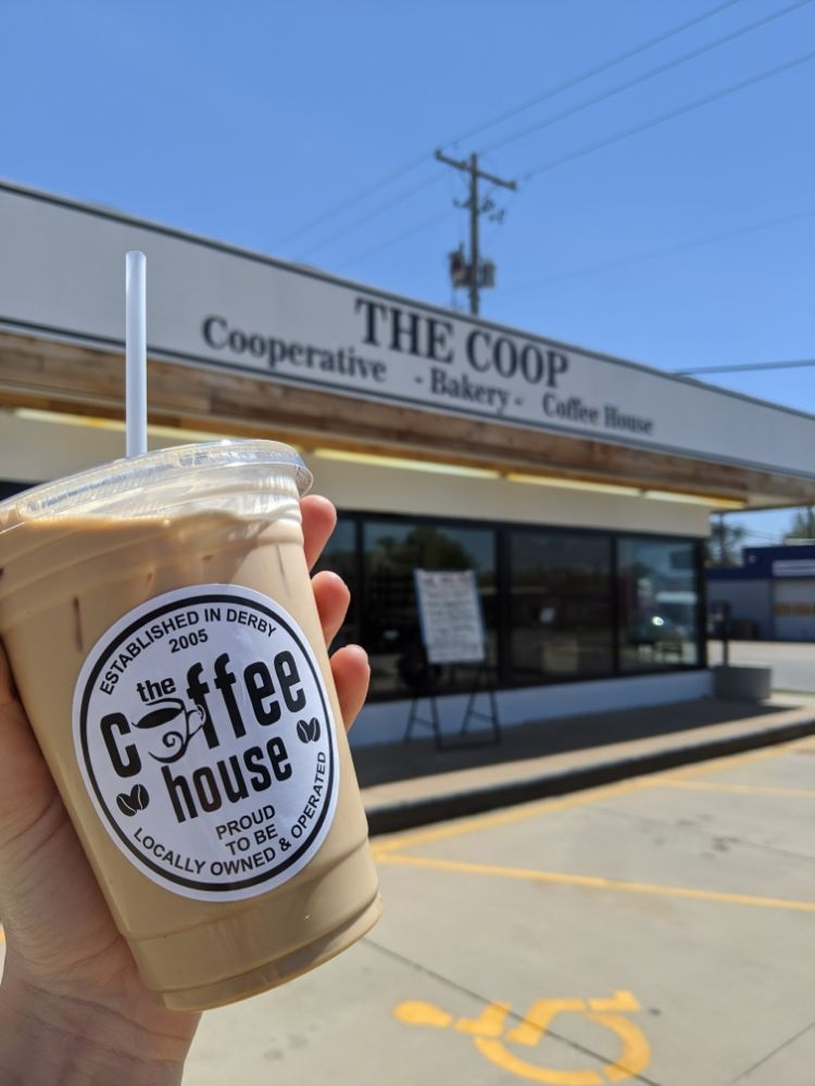 The COOP & Coffee House: 104 N Baltimore Ave, Derby, KS