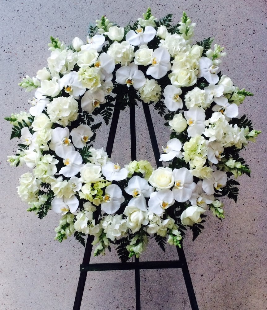 White Funeral Wreath Yelp