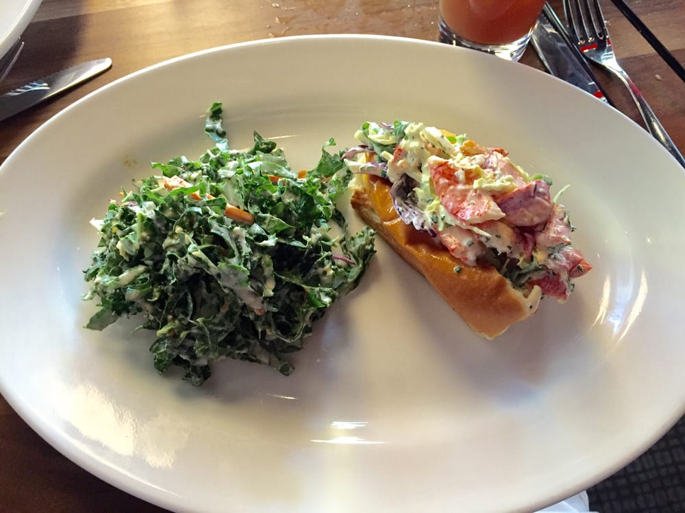 The Knuckle Sandwich (lobster roll) with kale slaw - Yelp