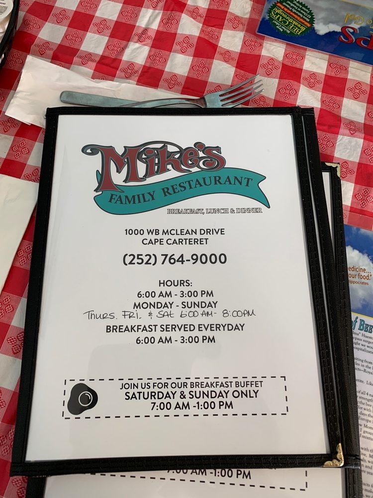 Mikes Family Restaurant: 1000 Wb McLean Dr, Cape Carteret, NC