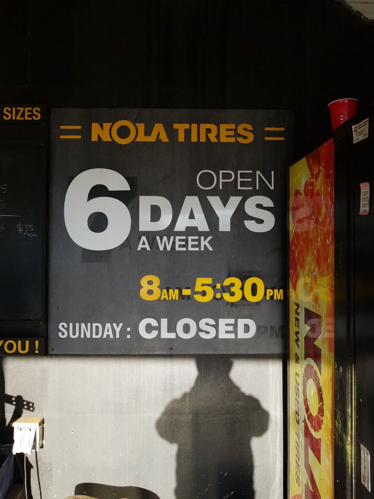 Tire Places Open On Sunday >> Nola Tires Tires 597 Holmes Blvd Gretna La Phone Number Yelp