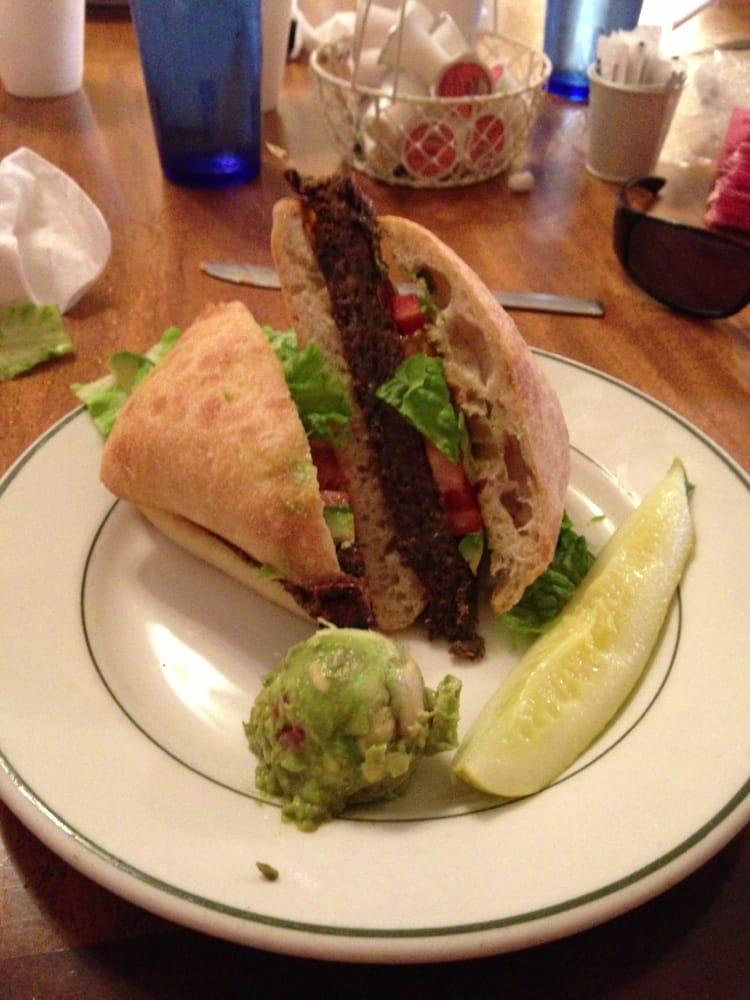 Black bean burger with a bodacious flavor! - Yelp
