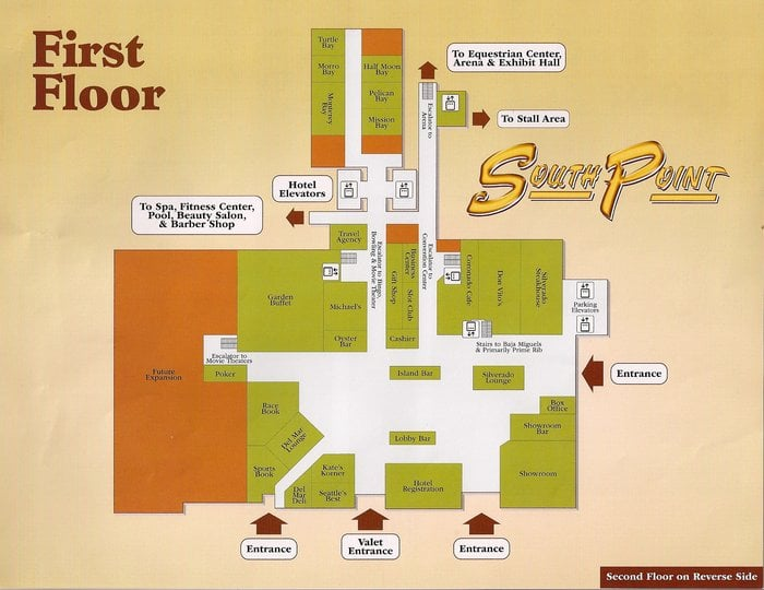 South point hotel and casino map ridge casino restaurants
