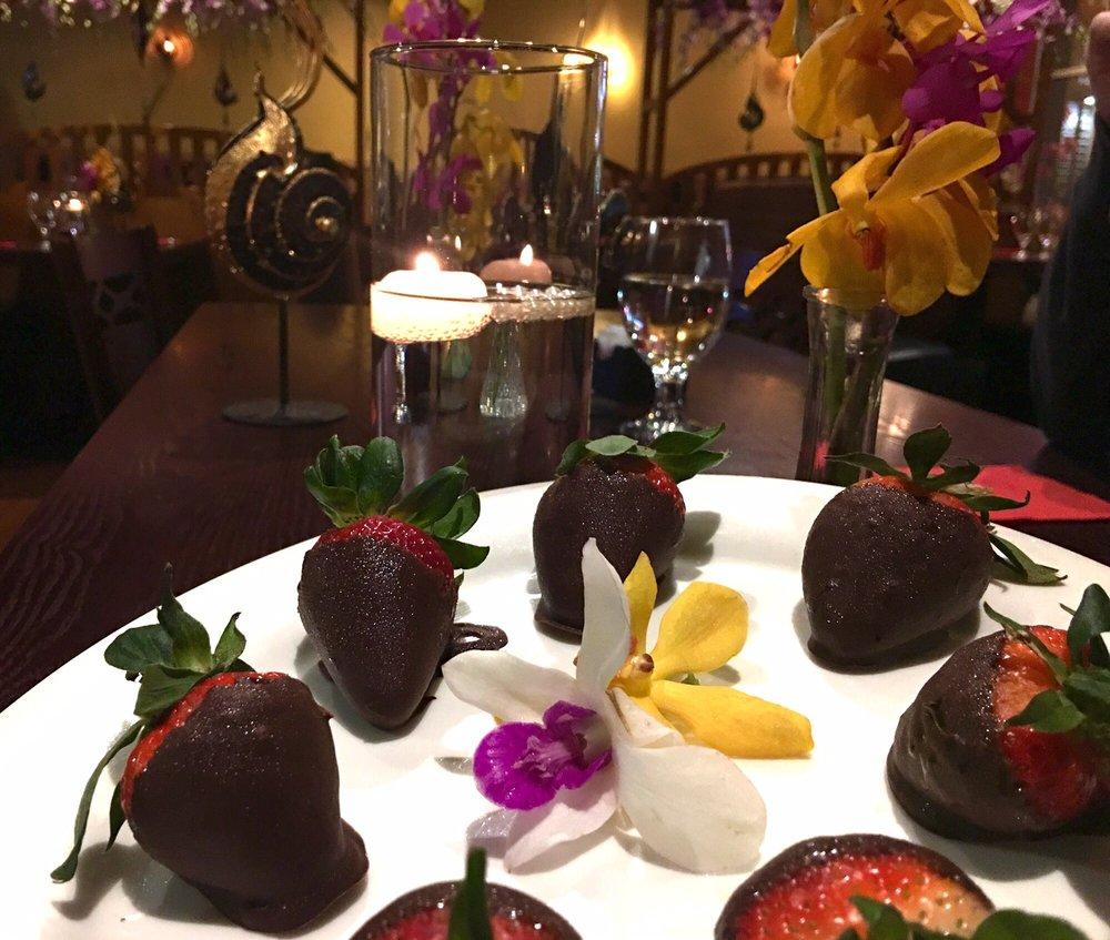 Valentines day strawberries yelp for Areeya thai noodle cuisine menu