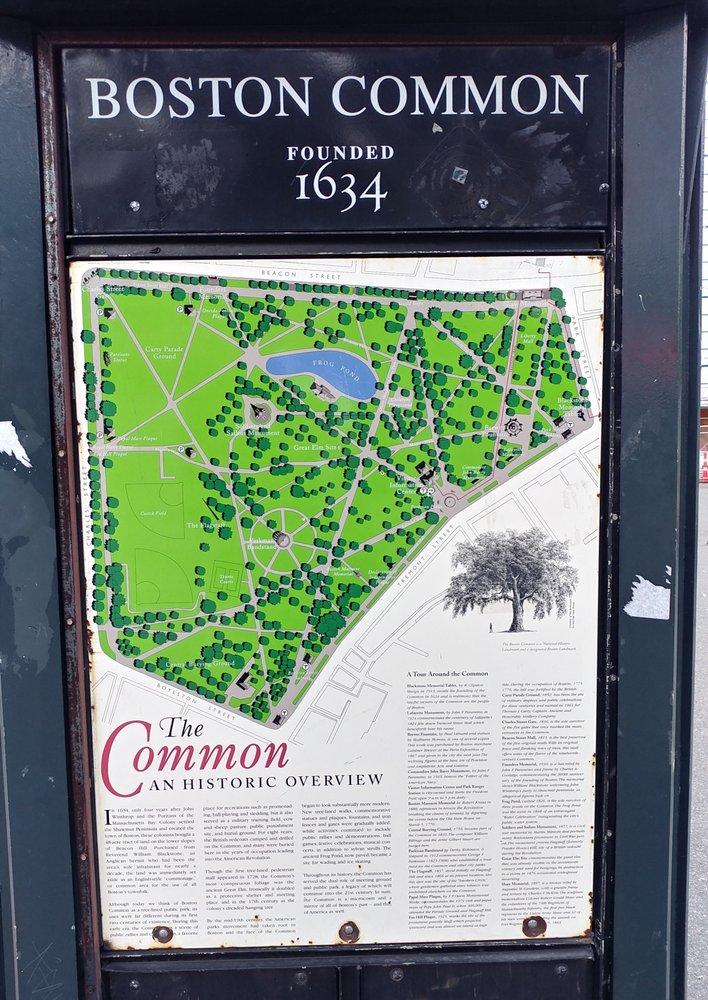 Map Of The Boston Common Yelp - Boston common map