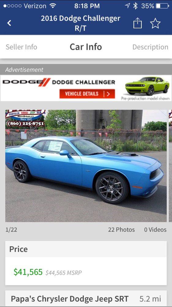 papa s chrysler dodge jeep ram 13 reviews car dealers 585 e main st new britain ct. Black Bedroom Furniture Sets. Home Design Ideas