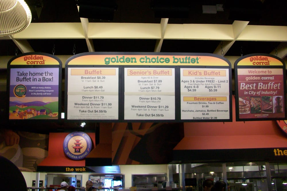 Golden Corral Prices. Golden Corral offers great food at affordable prices. On a specific night, you will find a variety of seafood on the buffet to choose from.