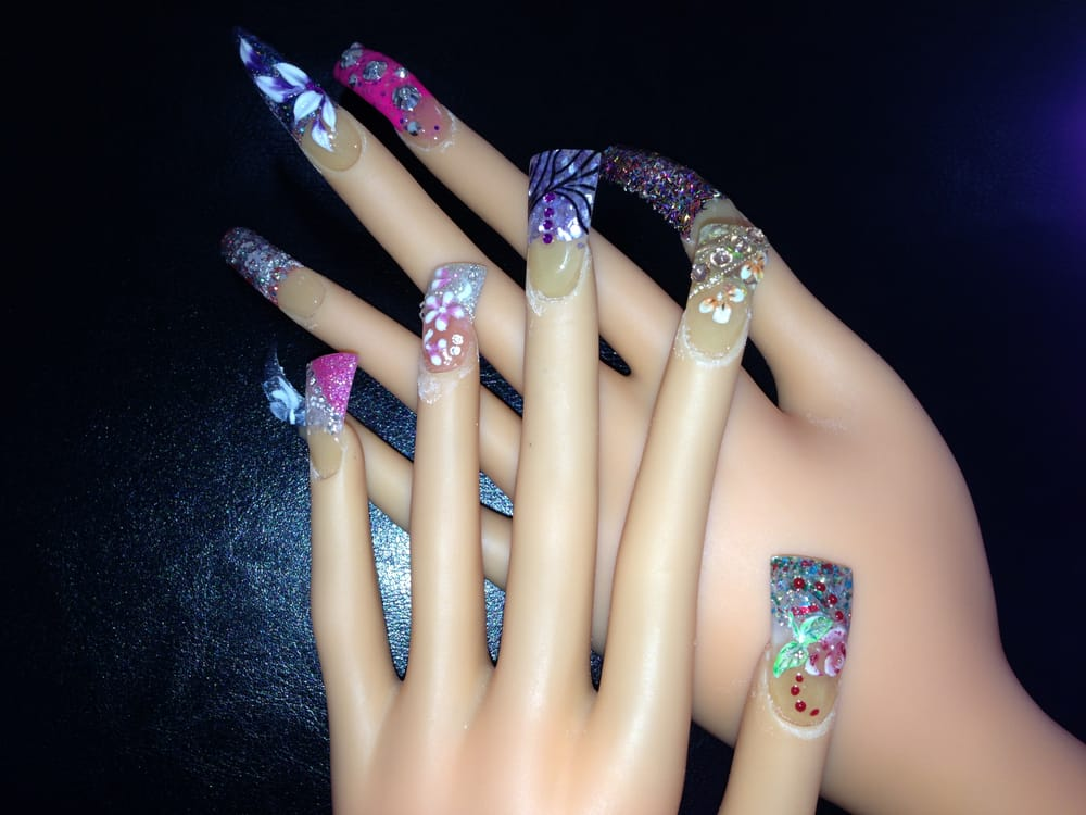 Stiletto Nails amp 3D Design Yelp