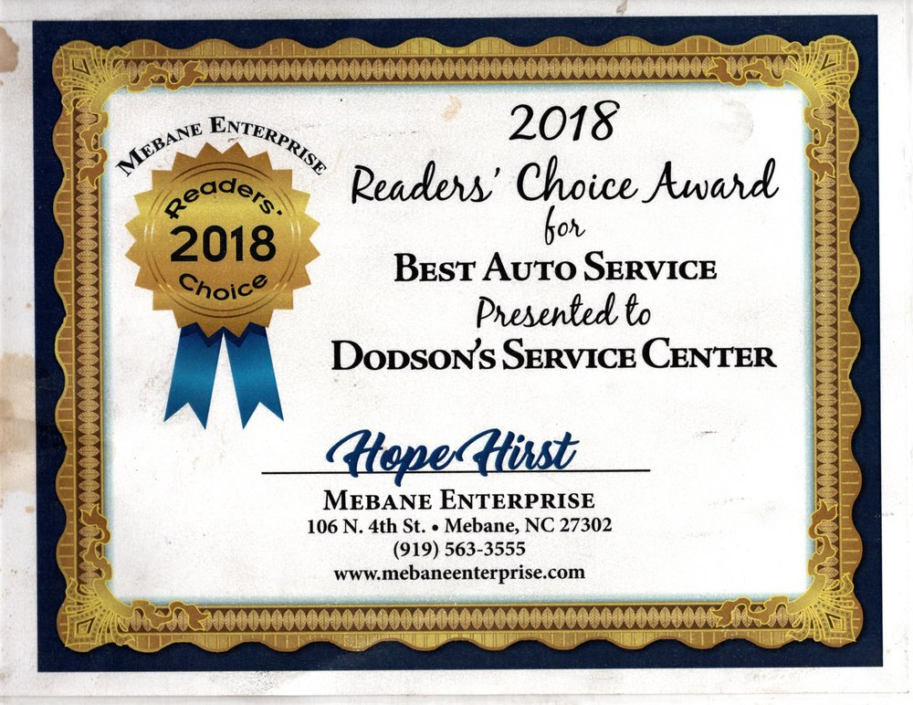 Dodson's Service Center: 306 W Center St, Mebane, NC