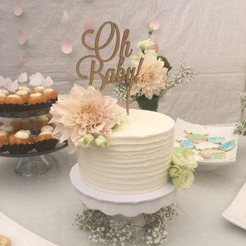 Elegant Girl Baby Shower Cake. Photo Of Final Touch Bakery Westminster Ca  United States Simple Yet Elegant