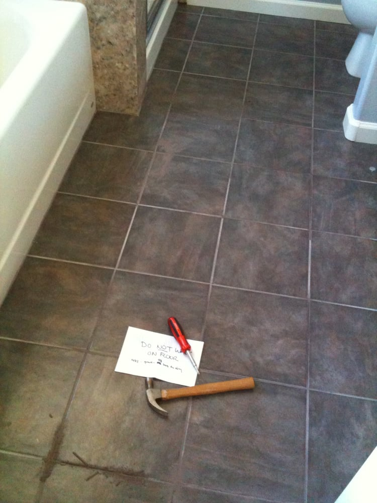 Grout Coming Out And Floor Not Level Before Tomasz Did Work Yelp