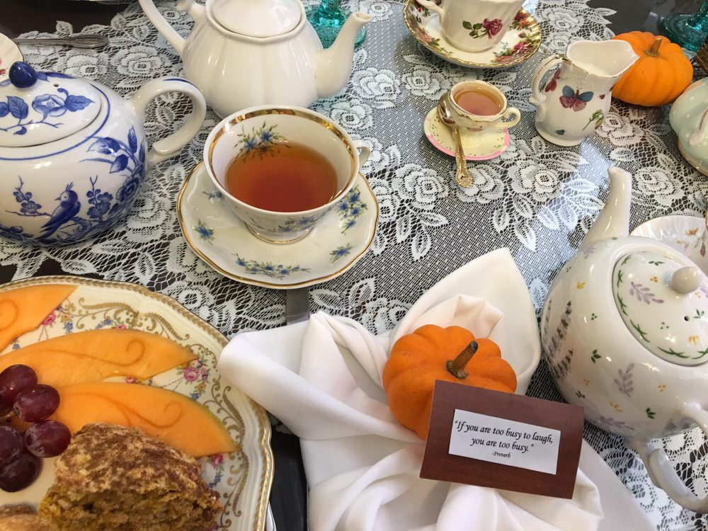 The Secret Garden Tea Café & Gift Shoppe: 225 Main St, Port Jefferson, NY