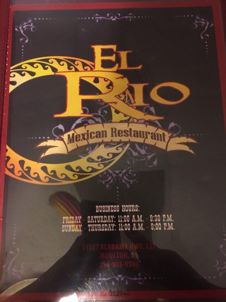 El Rio Mexican Restaurant: 11227 Al Hwy 157, Moulton, AL