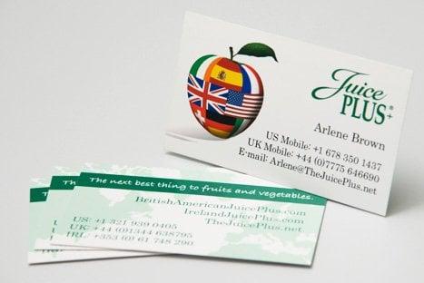 Logo business card design for david arlenes juice plus business photo of create180 design orlando fl united states logo business card reheart Choice Image