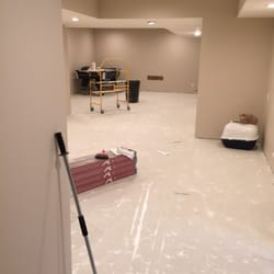 Photo Of Johnson Flooring Solutions   Raleigh, NC, United States. Concrete  Basement Before
