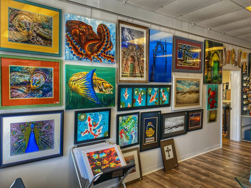 Marty Campbell Gallery & Frame Shop: 3092 Gulf Breeze Pkwy, Gulf Breeze, FL