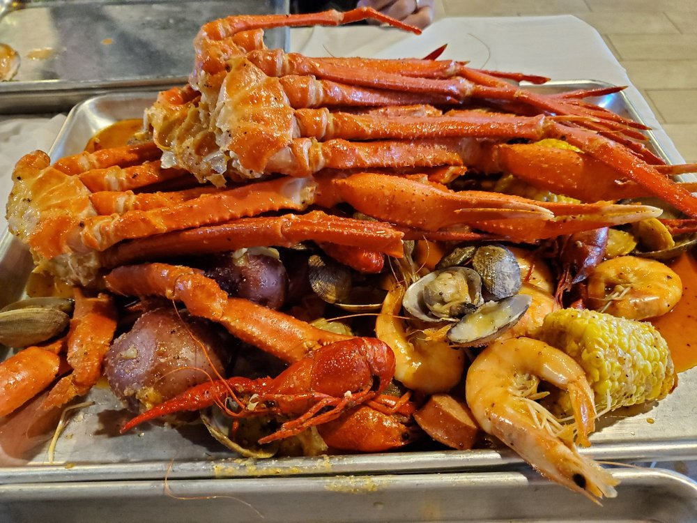 Food from Kickin Seafood Cajun Style