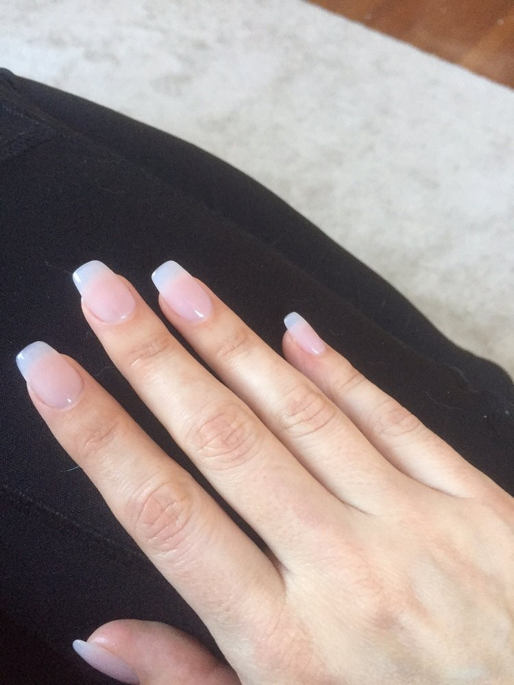 Natural-colored acrylic nails by Michael, I\'m happy! - Yelp