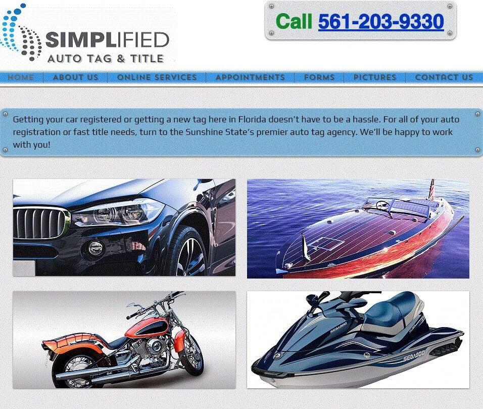 Simplified Auto Tag & Title: 1927 N Federal Hwy, Boca Raton, FL