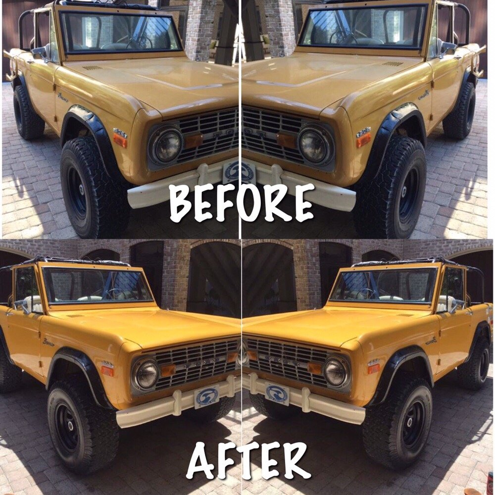 before and after using the clay bar and full color restoration process on this original paint. Black Bedroom Furniture Sets. Home Design Ideas